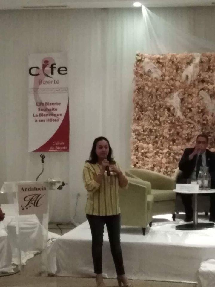 ABIR JLASSI SDIRI PRESIDENTE CIFE BEN AROUS TUNISIE - Conférence CIFE BIZERTE